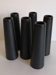 Bobine plastique conique noire
