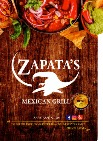 Zapatas menu Cover