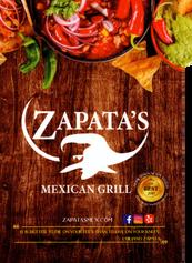 Zapatas menu Cover