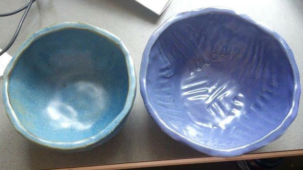 large pinch pot bowls