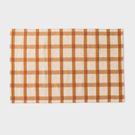 Plaid Wool Rug - Tawny