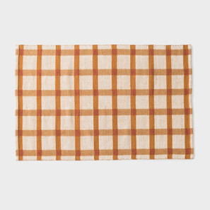 Plaid Wool Rug - Tawny