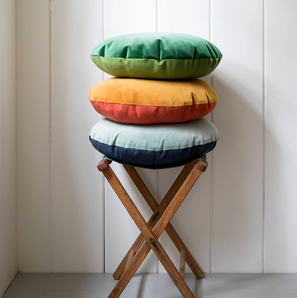 Velvet + Wool Circle Pillows