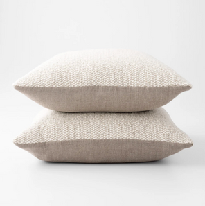 Ivory Wool Throw Pillow