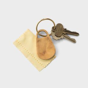 Cast Brass Keychain