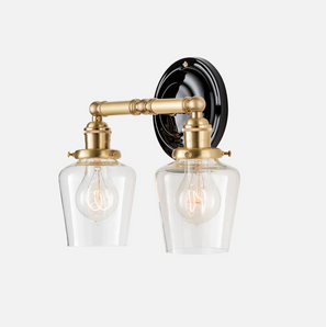 """Sage Double Sconce 2.25"""""""