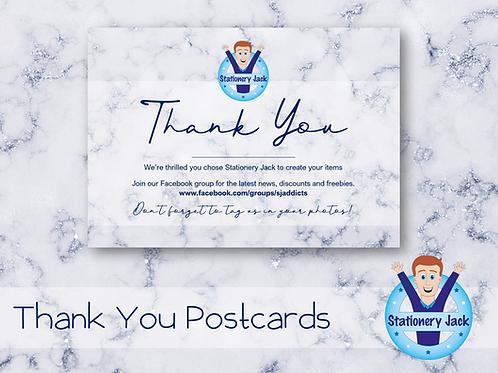 Thank You Postcards