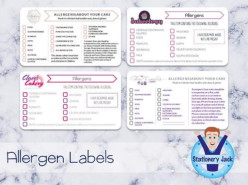 Allergen Stickers