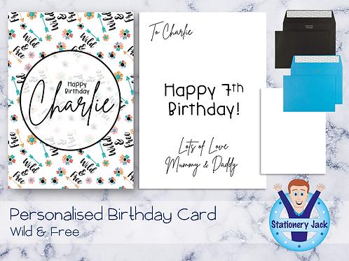 Birthday Card - Wild & Free