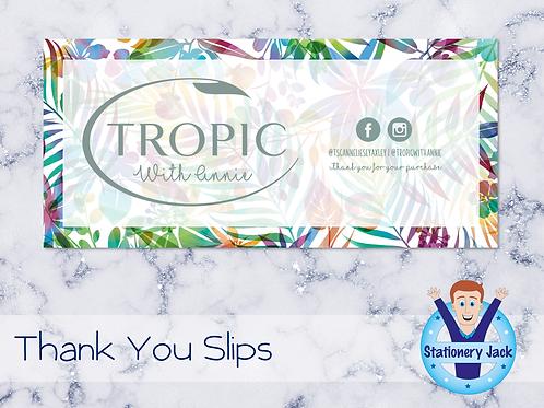 Tropic Thank You Slips