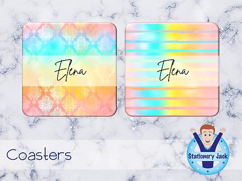 Neon Rainbow Coaster
