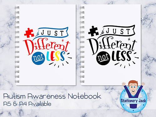 Just Different Not Less Notebook