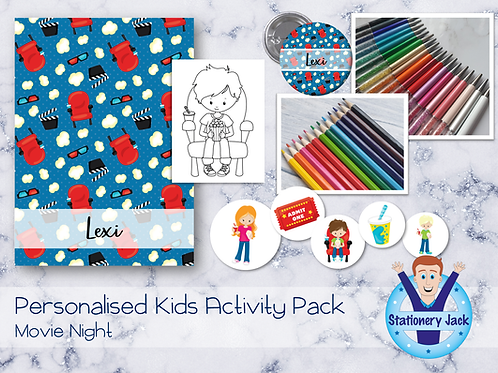 Movie Night Kids Activity Pack