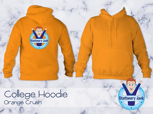 College Hoodie - Orange Crush