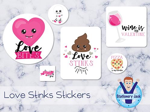 Love Stinks Stickers