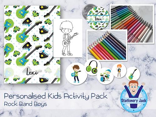 Rock Band Boys Kids Activity Pack