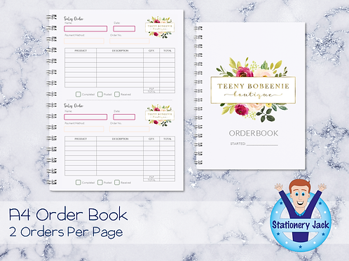 A4 Order Book - 2 Orders Per Page