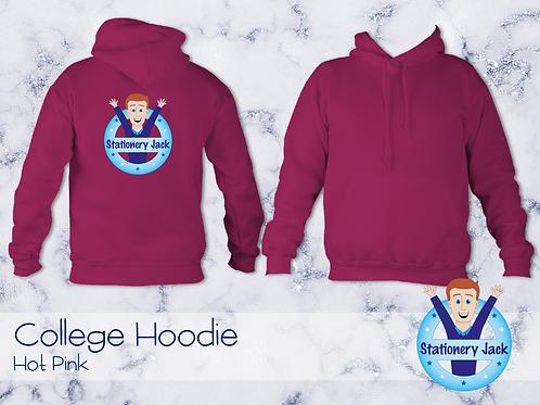 College Hoodie - Hot Pink
