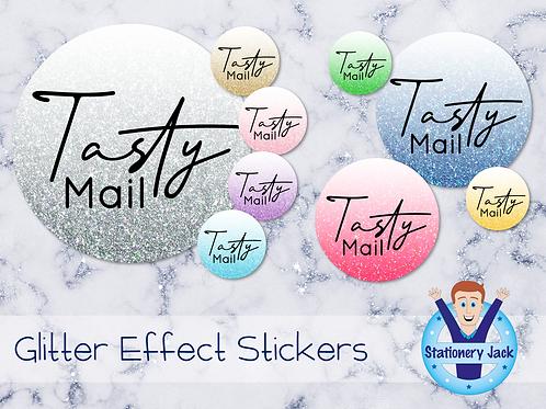 Tasty Mail Glitter Effect Stickers