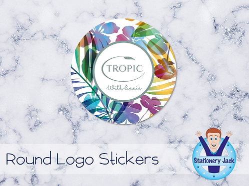 Tropic Round Logo Stickers