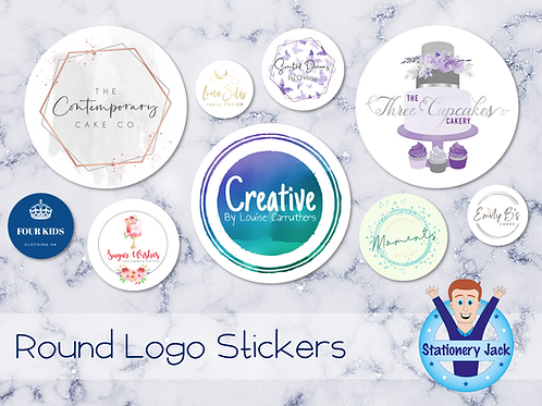 Round Logo Stickers