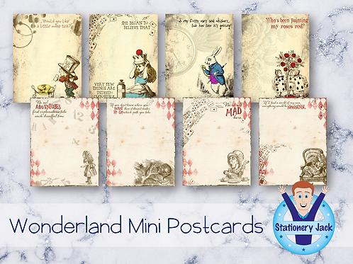 Wonderland Mini Postcards