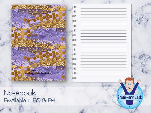 Lavender Honey Notebook