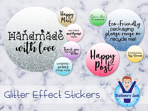 Glitter Effect Stickers