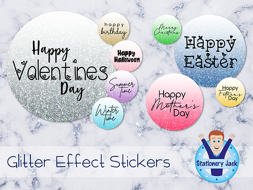 Occasions Glitter Effect Stickers