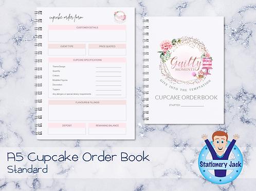 A5 Cupcake Order Book