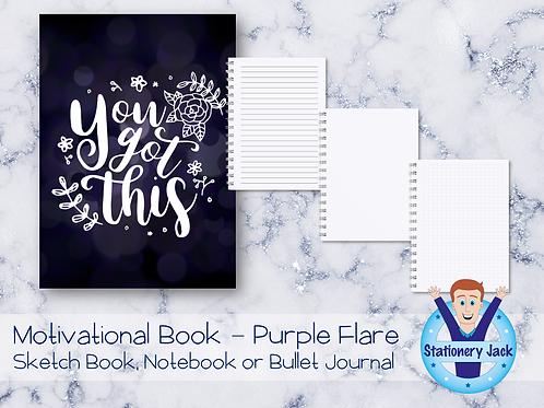 Motivational Book - Purple Flare