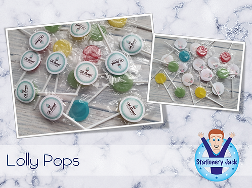 Stickered Logo Lolly Pops