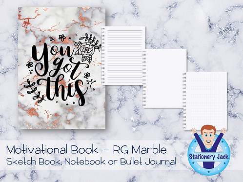 Motivational Book - Rose Gold Marble
