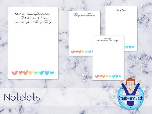 Pride Love Notelets
