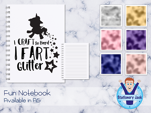 Fart Glitter Notebook