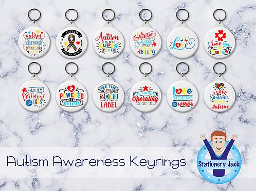 Autism Awareness Keyrings