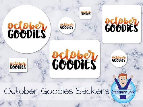 October Goodies Stickers