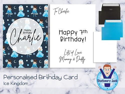 Birthday Card - Ice Kingdom
