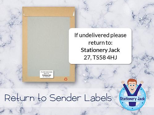 Return to Sender Labels