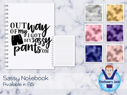 Sassy Pants Notebook