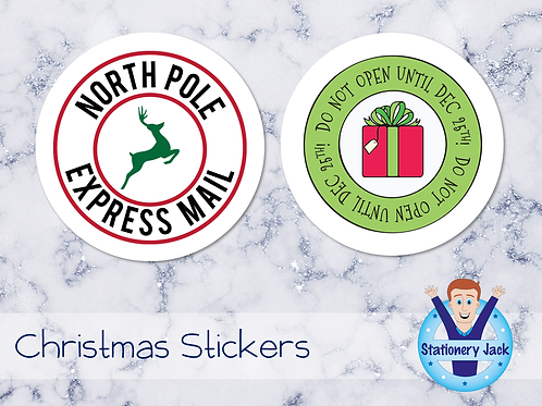 Christmas Mailing Stickers