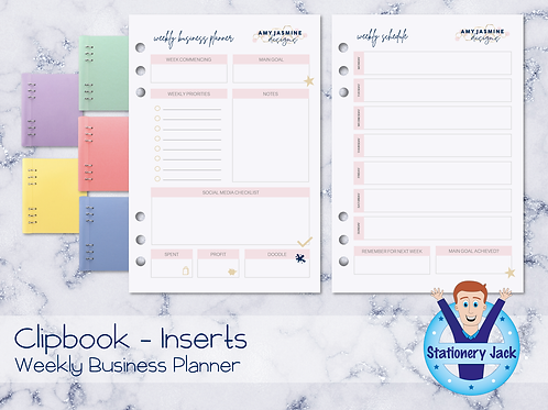 A5 Inserts - Weekly Business Planner