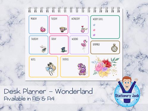 Wonderland Desk Planner