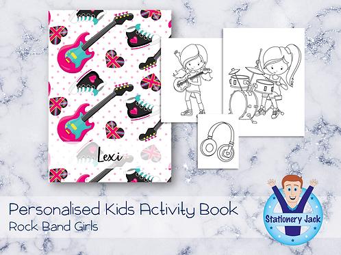 Rock Band Girls Activity Book