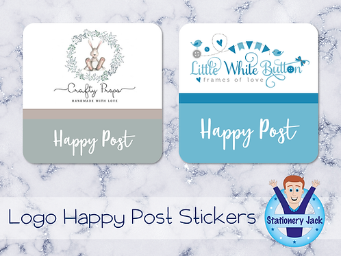 Logo Happy Post Stickers