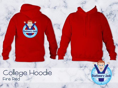 College Hoodie - Fire Red