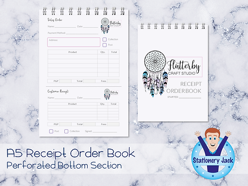 A5 Receipt Order Book