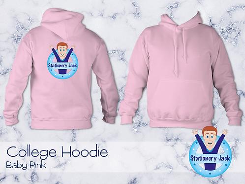 College Hoodie - Baby Pink