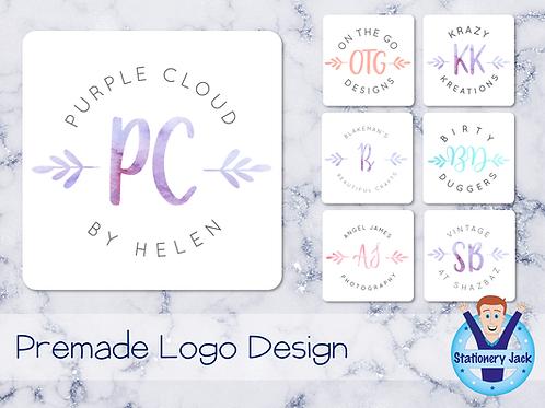 Premade Logo - Centre Letters