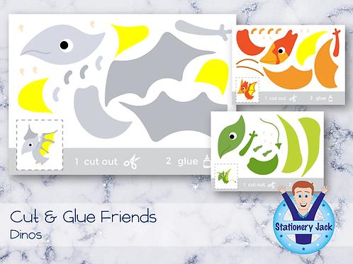 Cut & Glue - Dinos